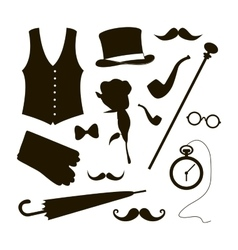 Set of elements for gentlemen vector image