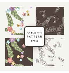 Set of seamless patterns with Japanese vector