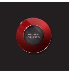 shiny button with metallic elements design vector image