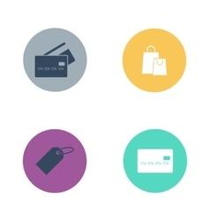 Shop buttons business market retail store vector image