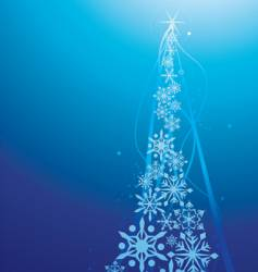 snow flake christmas tree vector image