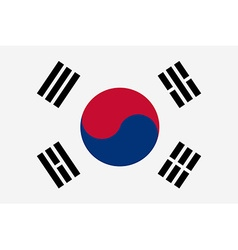 South korea vector image