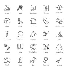 Sportswear line icons pack vector