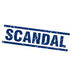 Square grunge blue scandal stamp vector