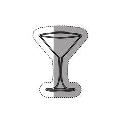 Sticker silhouette martini glass drink vector