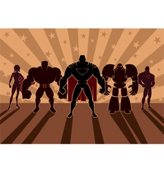 Superhero Team vector image