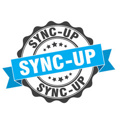 Sync-up stamp sign seal vector