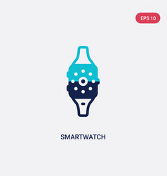 Two color smartwatch icon from electronic devices vector