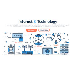 Web site header - internet and technology vector