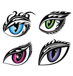 wild animal eyes vector image