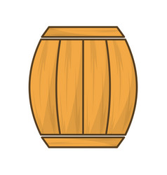 wood barrel of wine beverage tasty vector image