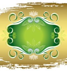 flora frame vector image vector image