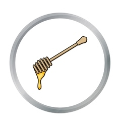 Honey dipper icon in cartoon style isolated on vector image
