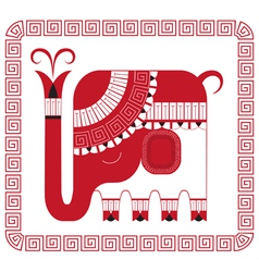 Indian elephant in decorative style vector image