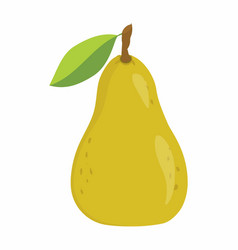 Pear on the white background vector