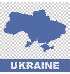 ukraine map on isolated background flat vector image