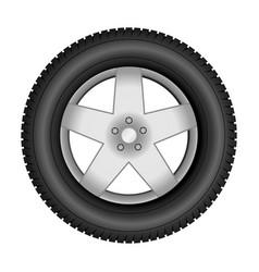 car tire on an alloy wheel vector image vector image