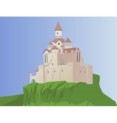 castle on a rock vector image vector image