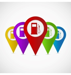 Map pointer with gas station icon vector image vector image