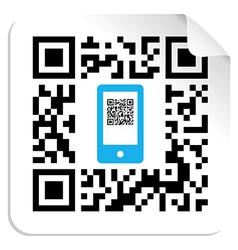 QR code mobile label vector image