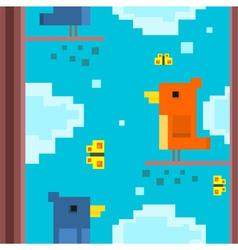 Square bird vector image