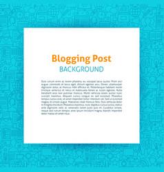 Blogging paper template vector