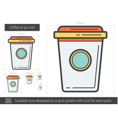 coffee to go line icon vector image