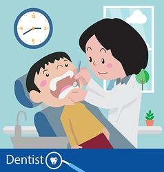 dentist chair during a dental vector image vector image