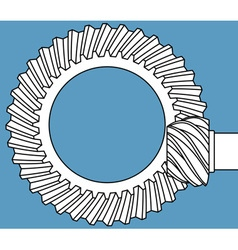 Main gear icon vector image vector image