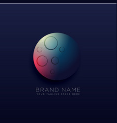 planet logo design with light effect vector image