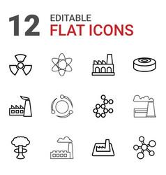 12 nuclear icons vector