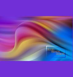 Abstract fluid creative templates cards color vector