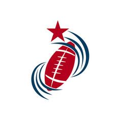 American football sport logo template design vector