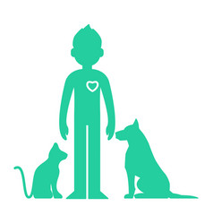 animals help man vector image