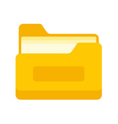 archive file folder icon flat style vector image