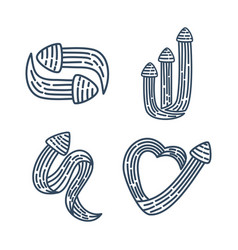 arrow direction collection outline set vector image