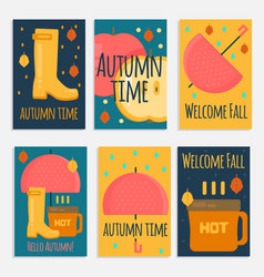 Autumn stuff banners in flat style vector
