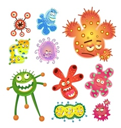 bacteria and virus cartoon vector image