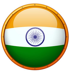 Badge design for india flag vector
