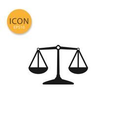 balance scale icon isolated flat style vector image