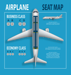 Banner poster flyer with airplane seats plan vector