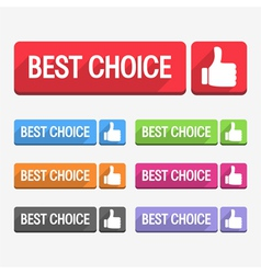 Best Choice Label Flat Design vector image