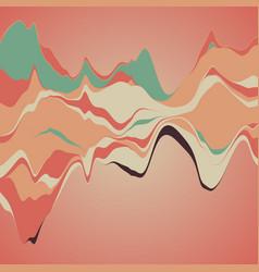 big data visualization streamgraph futuristic vector image