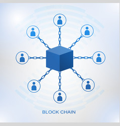 blockchain technology concept vector image