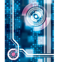 blue circle tech abstract web background wallpaper vector image
