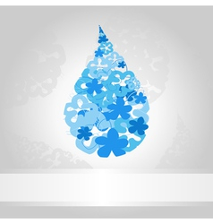 blue drop of water on a white background a vector image