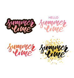 Brush lettering composition summer vacation vector