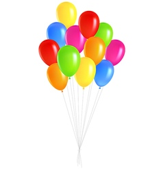 bunch balloons vector image