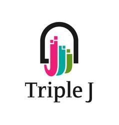 business logo design letter j vector image