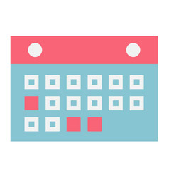 calendar flat icon mobile and website button vector image